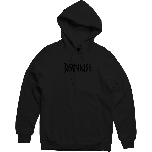 Deathwish Death Tag Hooded Sweatshirt - LARGE Black/Black