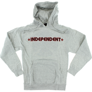 Independent Bar/Cross Hooded Sweatshirt - SMALL Heather Grey | Universo Extremo Boards Skate & Surf