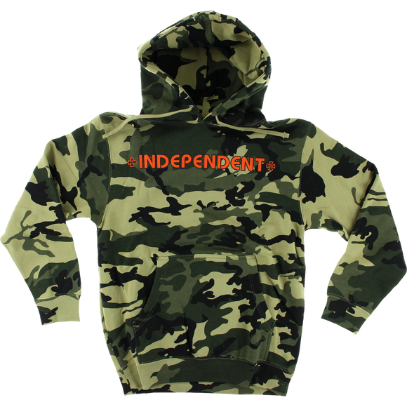 Independent Bar/Cross Hooded Sweatshirt - LARGE Camo/Orange | Universo Extremo Boards Skate & Surf