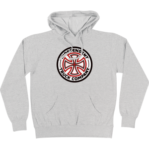 Independent Red/White Cross Hooded Sweatshirt - MEDIUM Athletic Heather