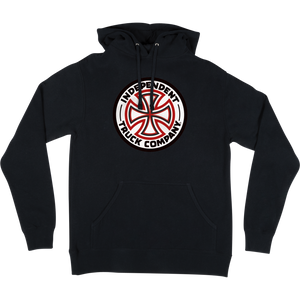 Independent Red/White Cross Hooded Sweatshirt - LARGE Black