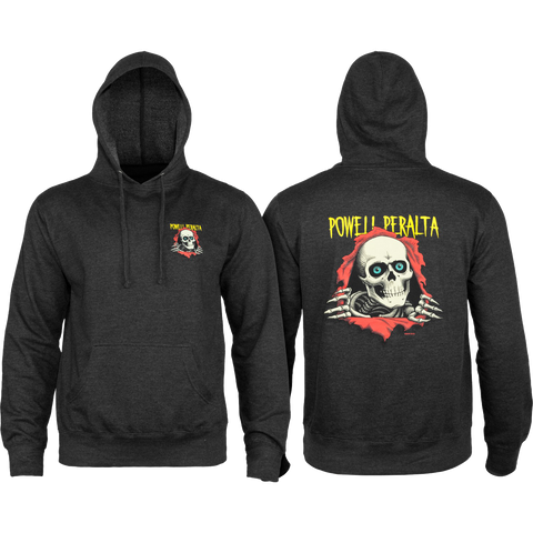 Powell Peralta Ripper Hooded Sweatshirt - SMALL Charcoal