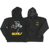 Powell Peralta Skateboard Skeleton Hooded Sweatshirt - SMALL Charcoal | Universo Extremo Boards Skate & Surf