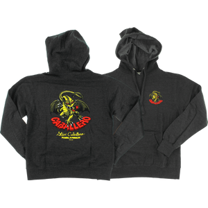 Powell Peralta Cab Dragon Hooded Sweatshirt - SMALL Charcoal | Universo Extremo Boards Skate & Surf