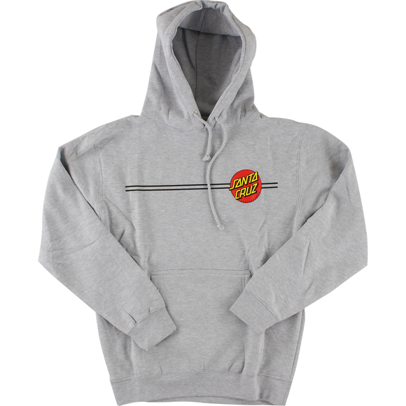 Santa Cruz Classic Dot Hooded Sweatshirt - X-LARGE Heather Grey