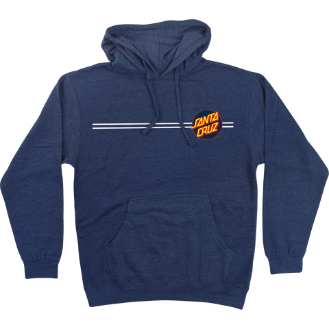 Santa Cruz Other Dot Hooded Sweatshirt - SMALL Navy Heather | Universo Extremo Boards Skate & Surf