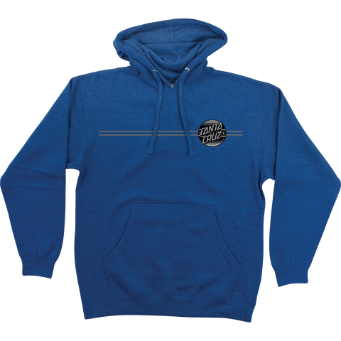 Santa Cruz Serape Dot Hooded Sweatshirt - X-LARGE Royal Heather | Universo Extremo Boards Skate & Surf