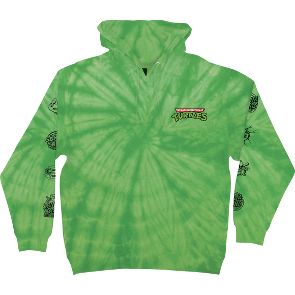 Santa Cruz Tmnt Mutagen Hooded Sweatshirt - SMALL Spider Lime