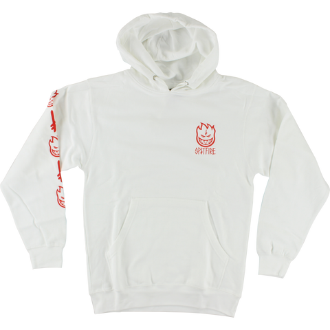 Spitfire Deathwish Hooded Sweatshirt - MEDIUM White | Universo Extremo Boards Skate & Surf