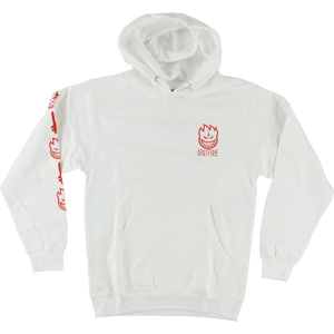 Spitfire Deathwish Hooded Sweatshirt - X-LARGE White | Universo Extremo Boards Skate & Surf