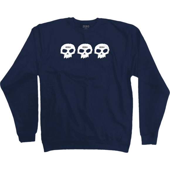 Zero 1999 Crew Sweatshirt - X-LARGE Blue