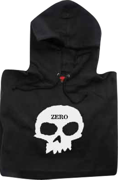Zero Skull Hooded Sweatshirt - LARGE Black