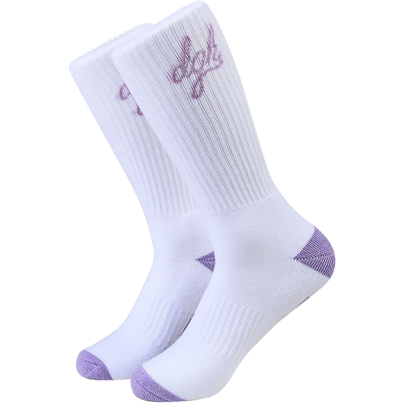 DGK Loud Crew Socks White - Single Pair