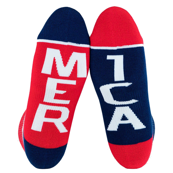 Fuel Small Low Socks Featherlite II Merica/Mer Ica White - Single Pair