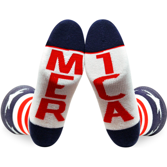Fuel Small Crew Socks Featherlite II Merica/Mer Ica - Single Pair