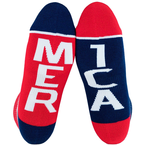 Fuel Standard Low Socks Featherlite II Merica/Mer Ica White - Single Pair