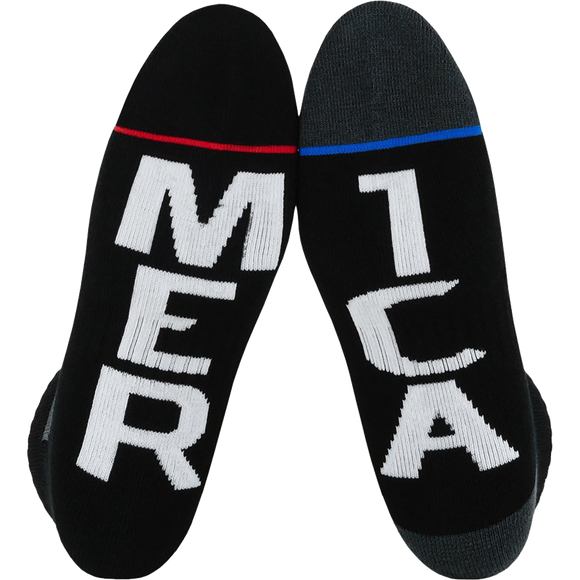 Fuel Standard Low Socks Merica/Mer Ica Black - Single Pair