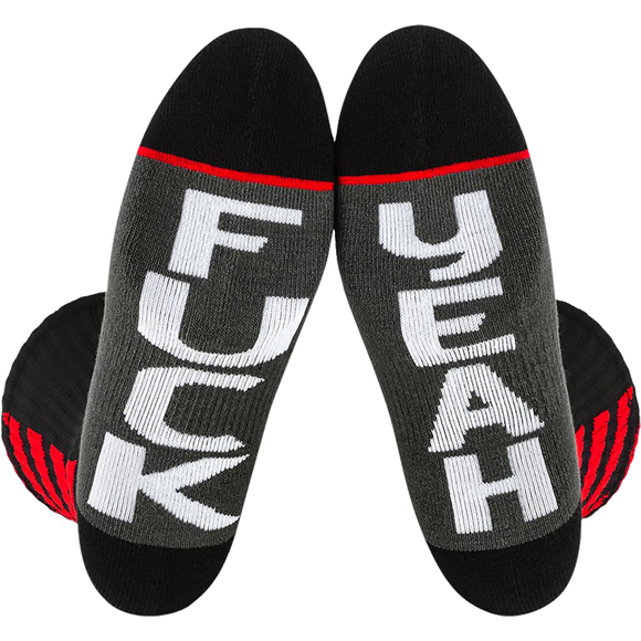Fuel Standard Crew Socks Crossover Fuk Yeah - Single Pair