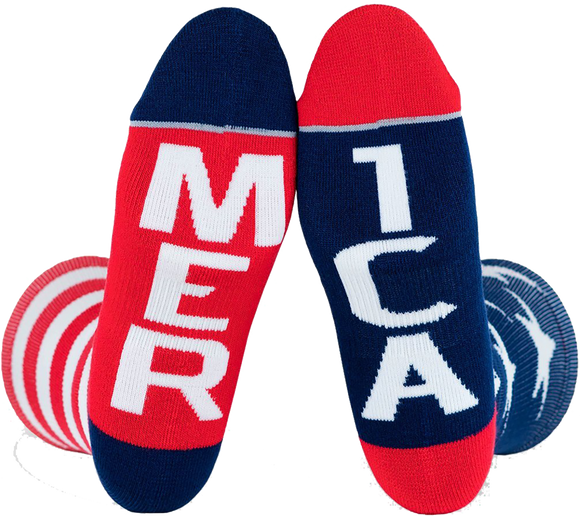 Fuel Standard Crew Socks Merica/Mer Ica Red/White/Blue - Single Pair