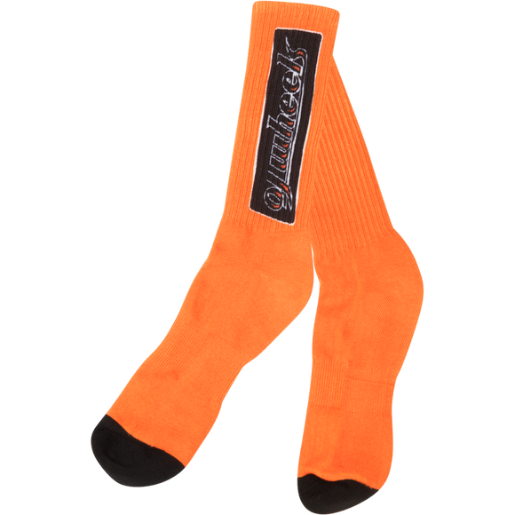 OJ Wheels Bar Crew Socks Orange - Single Pair