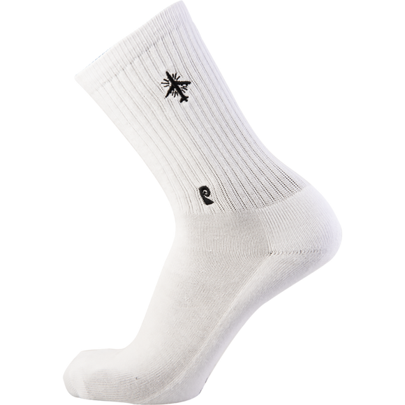 Psockadelic Holy Plane Crew Socks White/Black - Single Pair
