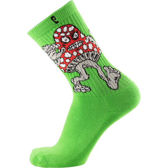 Psockadelic Mushroom Monster Crew Socks - Single Pair