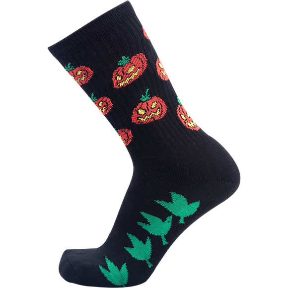 Psockadelic Pumpkin Patch Crew Socks - Single Pair