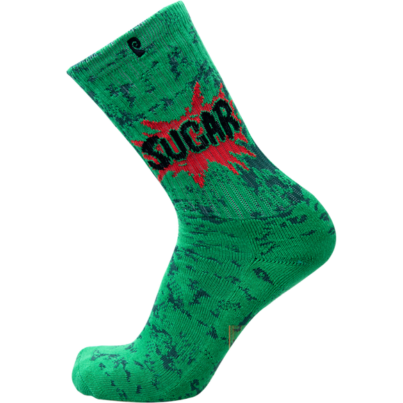 Psockadelic Sugar Crew Socks Green - Single Pair