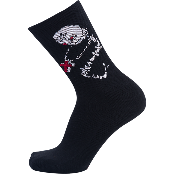 Psockadelic Skeletal Crew Socks - Single Pair