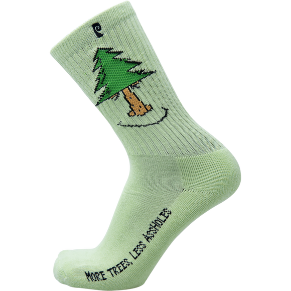 Psockadelic Trees Crew Socks Green - Single Pair