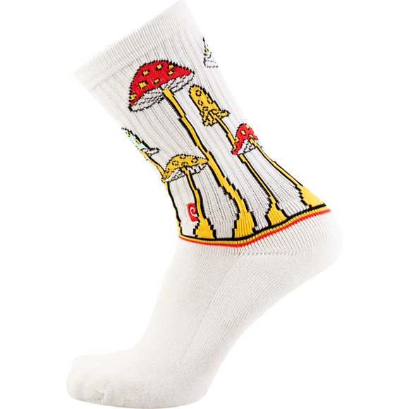 Psockadelic Tall Shroom Crew Socks - Single Pair