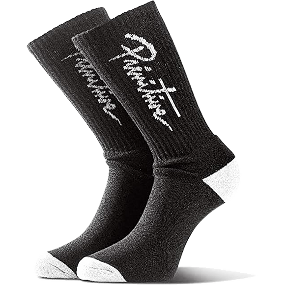 Primitive Nuevo Script Crew Socks Black/White