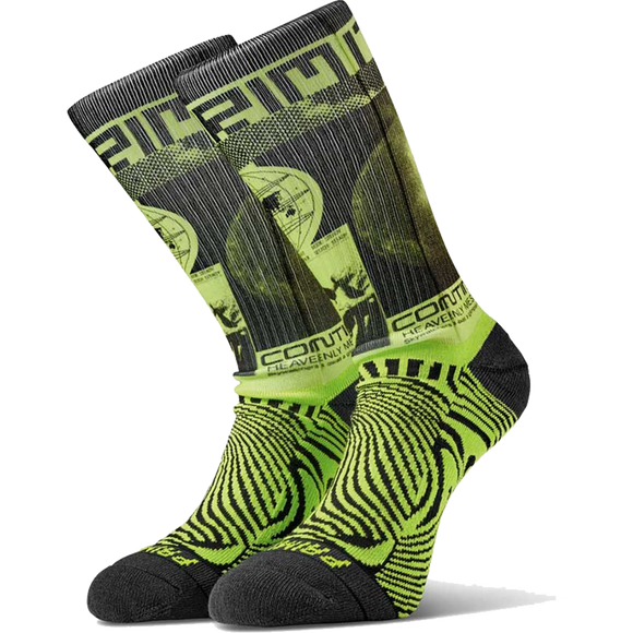 Primitive Perception Crew Socks Black/Lime