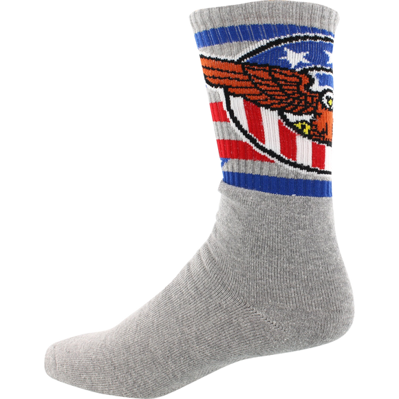 Socco Socks Large/X-Large Crew Star Spangled Eagle Grey - Single Pair
