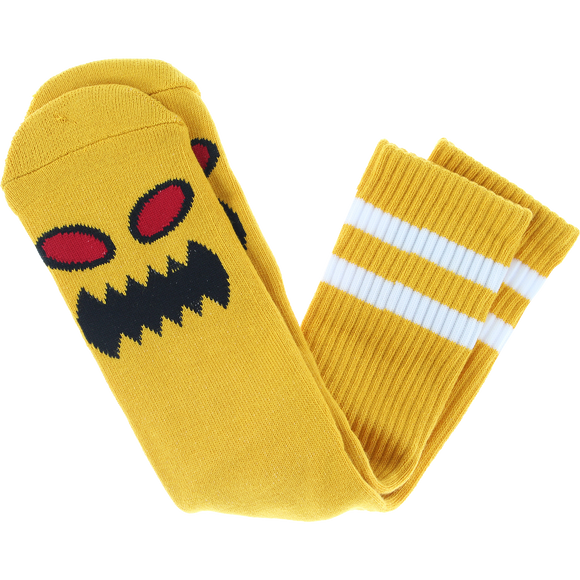 Toy Machine Monster Face Crew Socks Mustard - Single Pair