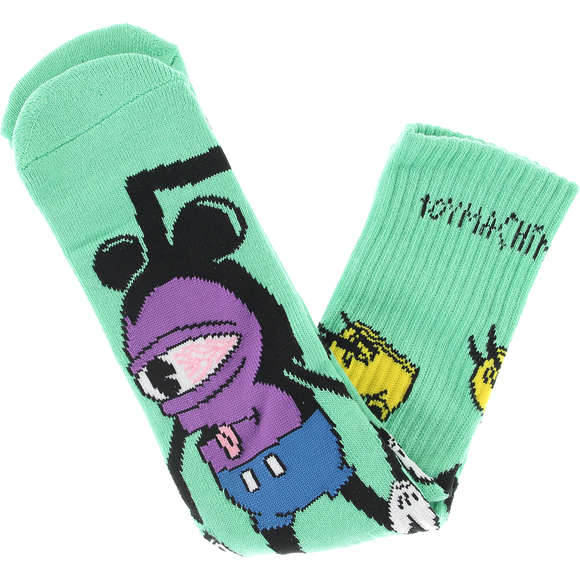 Toy Machine Mousketeer Crew Socks Sky Blue - Single Pair