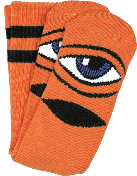 Toy Machine Sect Eye Crew Socks-Orange - Single Pair
