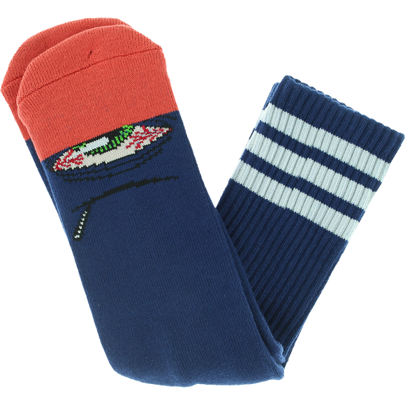 Toy Machine Stoner Sect Crew Socks Blue - Single Pair