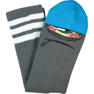 Toy Machine Stoner Sect Crew Socks-Grey/Blue - Single Pair | Universo Extremo Boards Skate & Surf