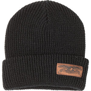 Antihero Stock Eagle Label Cuff Beanie Black/Brown