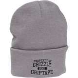 Grizzly Property Of Grizzly BEANIE Grey | Universo Extremo Boards Skate & Surf