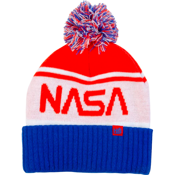 Habitat NASA Pom Beanie White/Red
