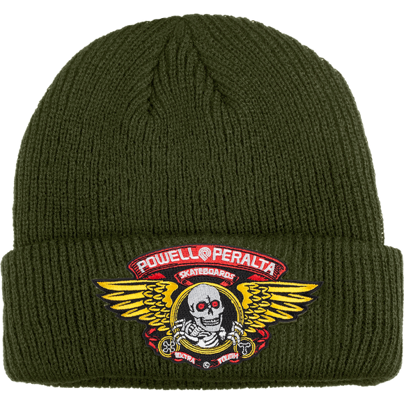 Powell Peralta Winged Ripper BEANIE Military Green