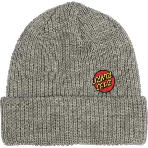 Santa Cruz Mini Dot BEANIE Heather Grey/Red