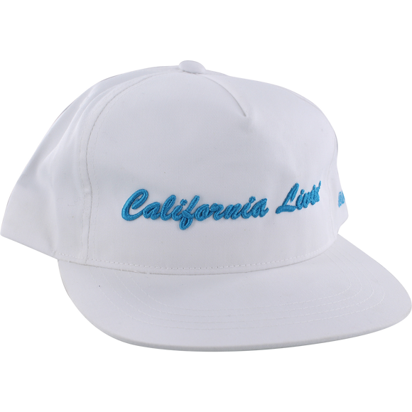 Grizzly California Livin Skate HAT - Adjustable White/Cyan