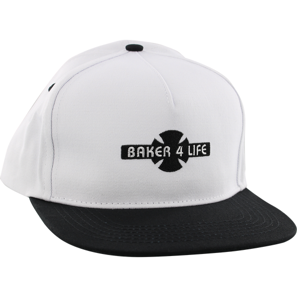 Independent Baker 4 Life Skate HAT - Adjustable White