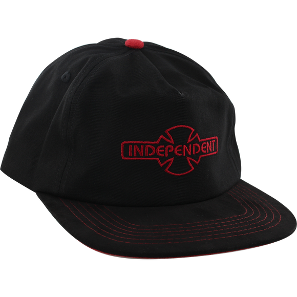 Independent O.G.B.C. Embroidery Skate HAT - Adjustable Black/Red