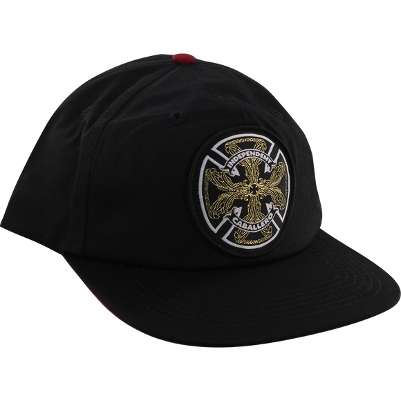Independent Caballero Flourish Skate HAT - Adjustable Black/Black