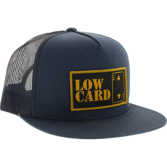Lowcard Classic Canvas Trucker Mesh Skate HAT - Adjustable Navy