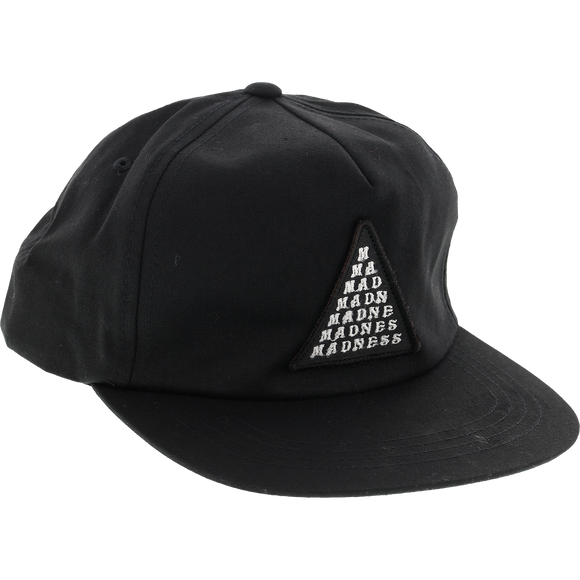 Madness Straight Mad Bar Skate HAT - Adjustable Black